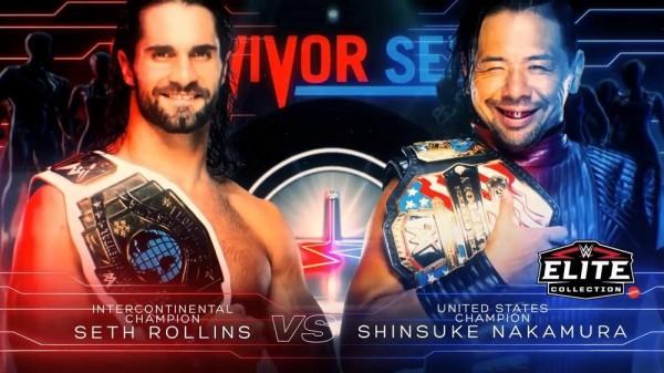 WWEサバイバーシリーズでロウとスマックダウンが全面対決!中邑はロリンズと対戦!