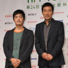 役所広司…今年の東京国際映画祭は「特別な年になる」、映画『キツツキと雨』の沖田監督とあいさつ