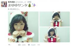 AKB48 渡辺麻友のサンタコスプレに北原里英やファンが絶賛