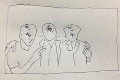 """川崎麻世、ジャニーズ後輩の近藤真彦、野村義男と再会 不思議な""""3ショット""""画像が話題"""