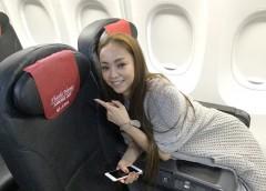 """引退まであと4ヶ月弱 安室奈美恵、""""AMURO JET""""に笑顔で搭乗"""