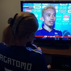 「ゆっにーぃ金髪で見つけやすかった」長友の妻・平愛梨、妹・祐奈が、三瓶らと日本の勝利を祝福