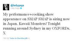 恩を仇で返す!? SMAP競演画像でレディー・ガガのYoutube公式アカウント消滅