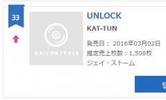 """ジャニーズ・KAT-TUN シングル「UNLOCK」が再浮上、オリコンランキング33位の""""怪挙"""""""