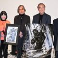 天野喜孝氏、「生まれて初めて」のガンダム油絵公開 タツノコプロ出身アーティスト集結