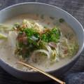 食物繊維が豊富! 白菜たっぷり「白菜とベーコンのクリームスープ」